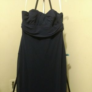 Navy blue formal gown